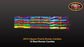 CALYPSO ROMAN CANDLES 5 PACK 10 SHOTS EACH WAS £8.99 NOW £5.00